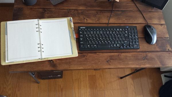 机に置いた時のサイズ