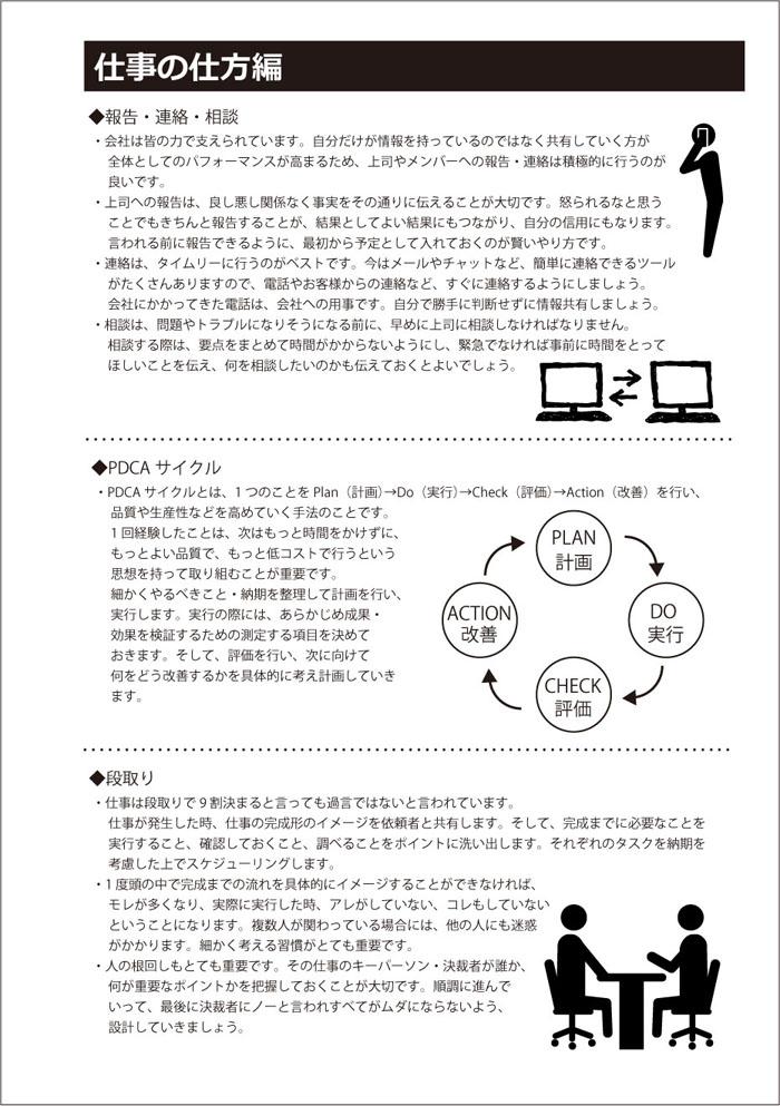 ビジネスマナー付き システム手帳 仕事の仕方