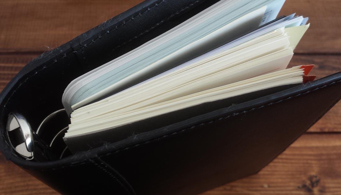 システム手帳リフィル保存の仕方