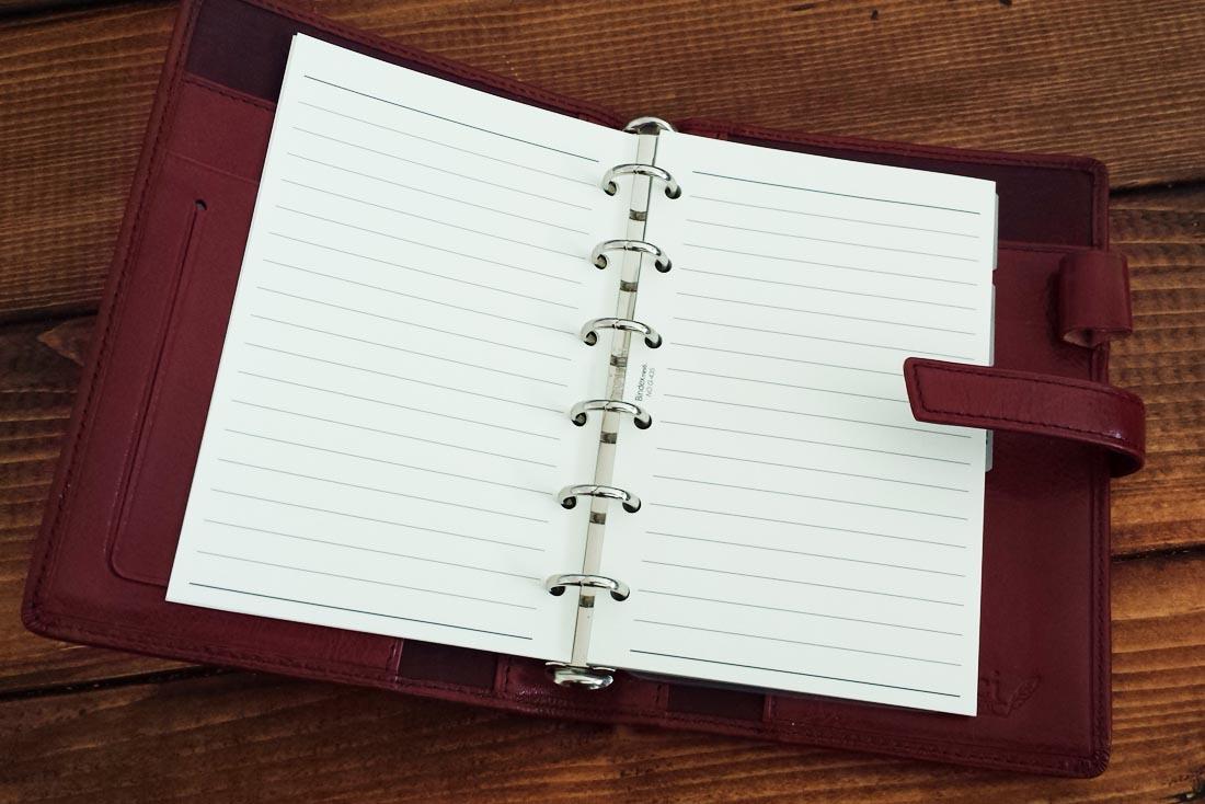 システム手帳6穴リフィル